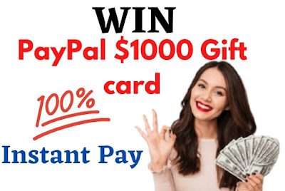 PayPal $1000 gift card giveaway