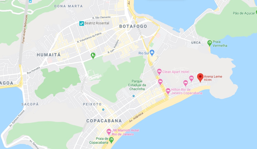 Hotel Arena Leme Map