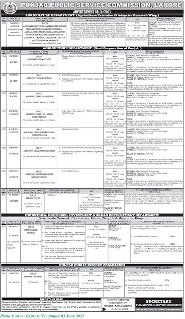 PPSC Jobs 2021 - Latest Punjab Public Service Commission Jobs June 2021 Apply Online for Latest PPSC Jobs 2021 Advertisement No. 16/2021