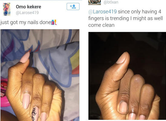 Does she really have four fingers?