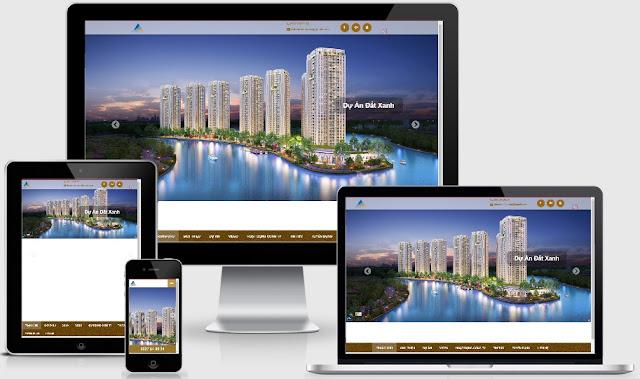 Template blogspot bất động sản dự án đất xanh chuẩn W3C