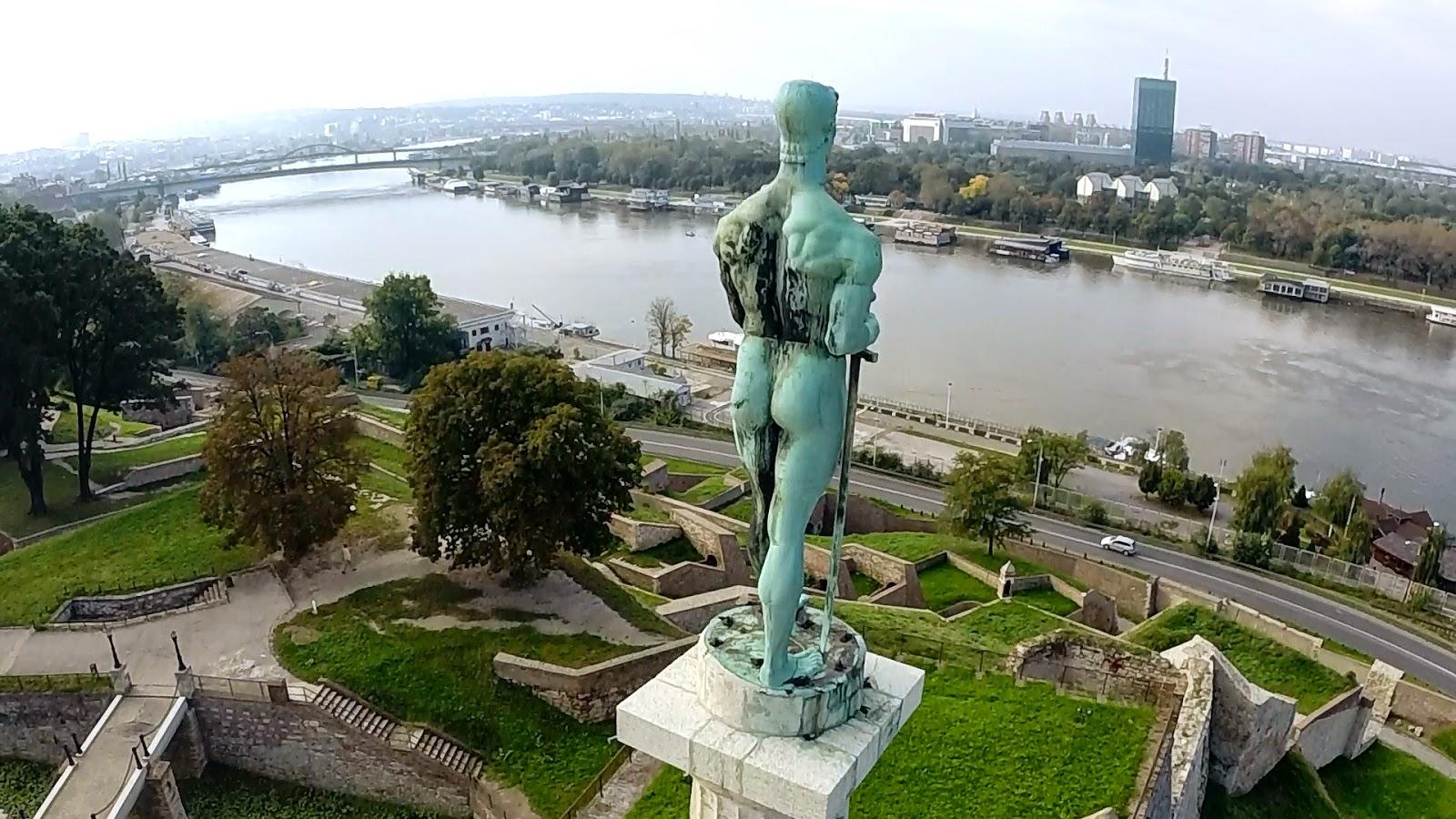 Snimanje iz vazduha: Kalemegdan - Beograd