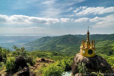 Panorama - rocher d or - Nwa La Bo - Mawlamyine