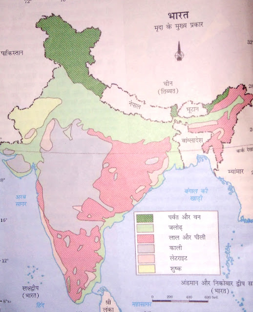 Important map questions items for class x sst social science chapter 1 resources and development identification only major soil types gumiabroncs Image collections