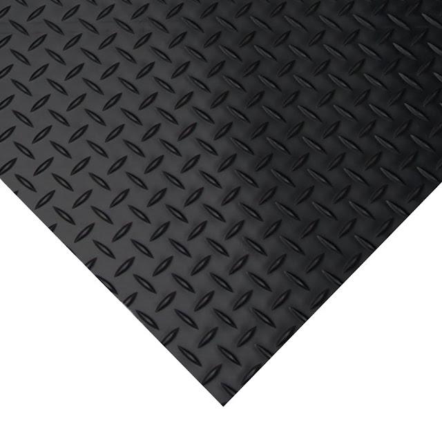 "Rubber-Cal ""Diamond-Plate"" Rubber Flooring Rolls"