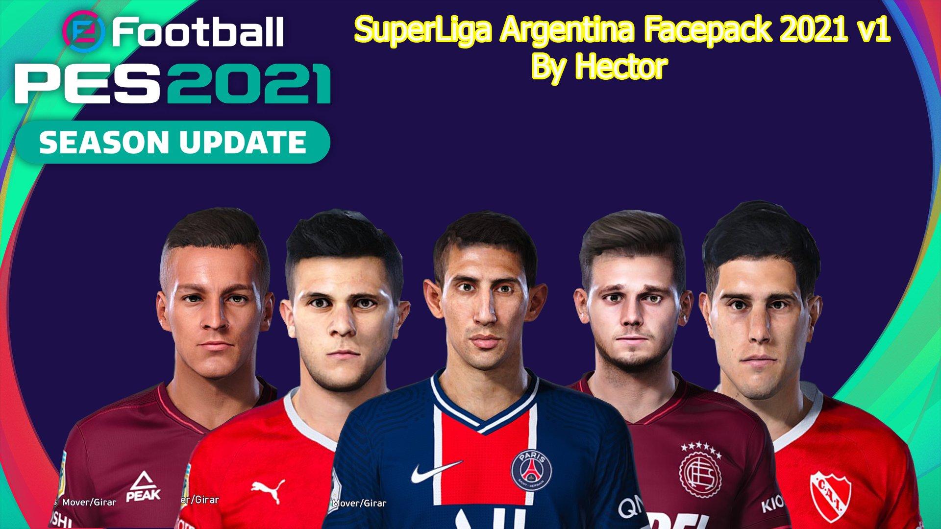 PES 2021 SuperLiga Argentina Facepack v1 by Hector