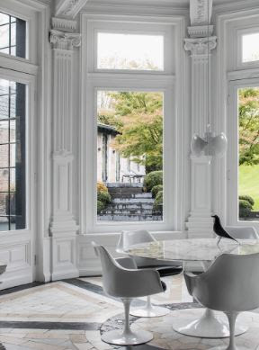 Choose and monochrome living room design