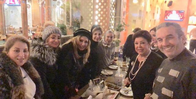سهير رمزي بدون حجاب في عيد ميلادها الـ67