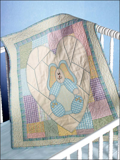 Bunny Hugs Quilt Free Pattern designed by Julie Weaver of FreePatterns