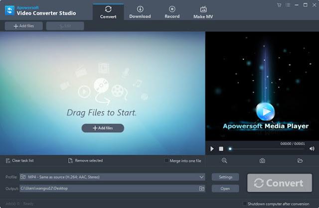 Apowersoft Video Converter Studio 4.6.2, Full + Crack por MEGA