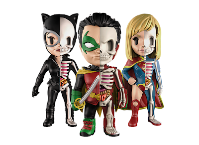 DC Comics XXRAY Dissection Series 7 Vinyl Figures by Jason Freeny & Mighty Jaxx – Catwoman, Supergirl & Robin