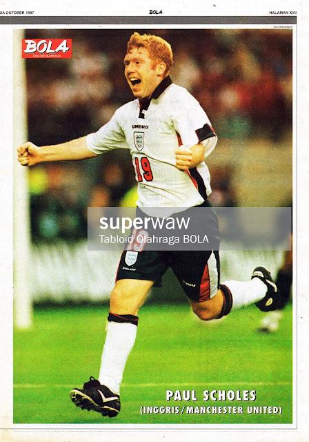 PAUL SCHOLES ENGLAND 1998