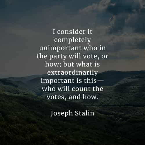 Famous quotes and sayings by Joseph Stalin