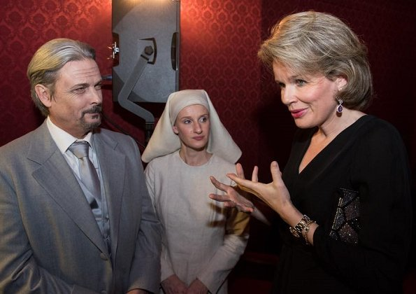 "Queen Mathilde of Belgium watched ""Dialogues des Carmélites"" opera of Francis Poulenc"