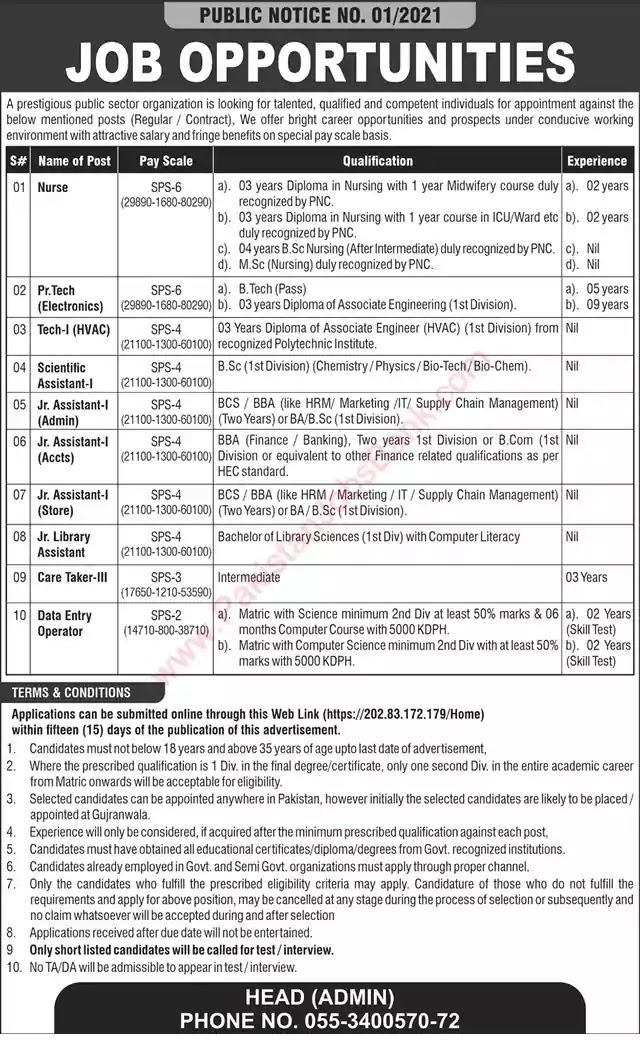 Latest Jobs in Pakistan Public Sector Organization Jobs 2021 | Apply Online