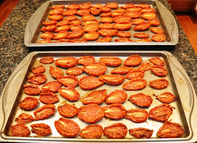 sundried tomatoes in  oven