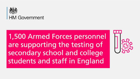 1,500 military personnel will help testing in schools and colleges