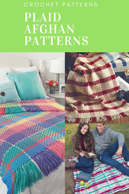 Crochet Plaid Afghan and Blanket Patterns