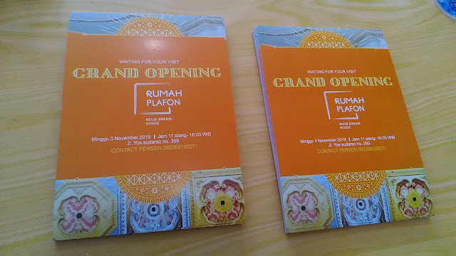 Brosur Grand Opening Rumah Plafon