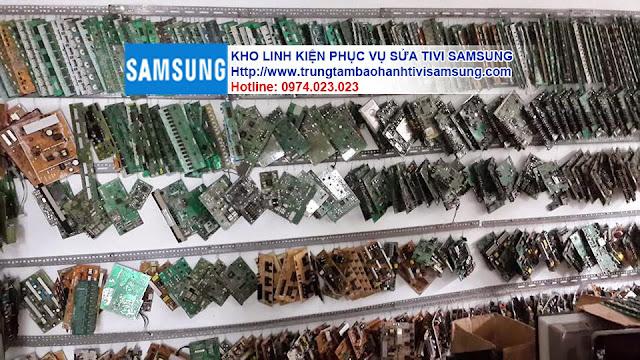 Hình ảnh kho linh kiện phục vụ sửa chữa tivi SAMSUNG