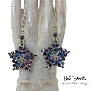free WibeDuo Star Earrings pattern