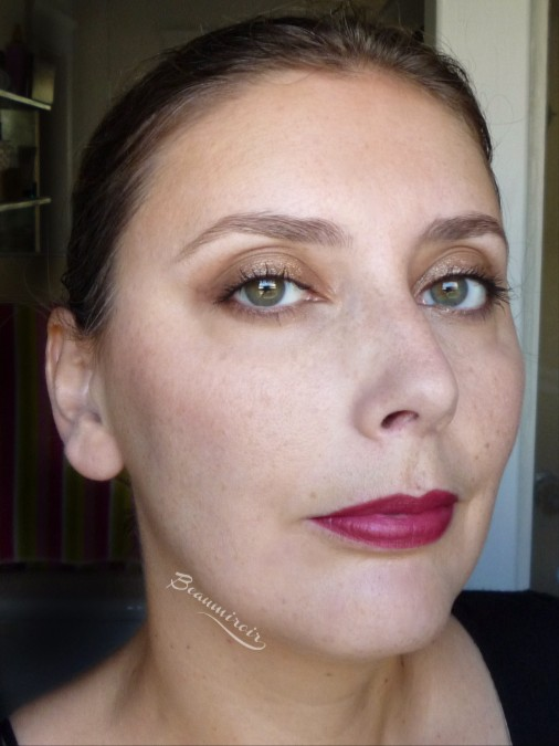 Lancome Color Design Matte Lip Crayon: fotd wearing 340 Only Wine Will Tell on lips