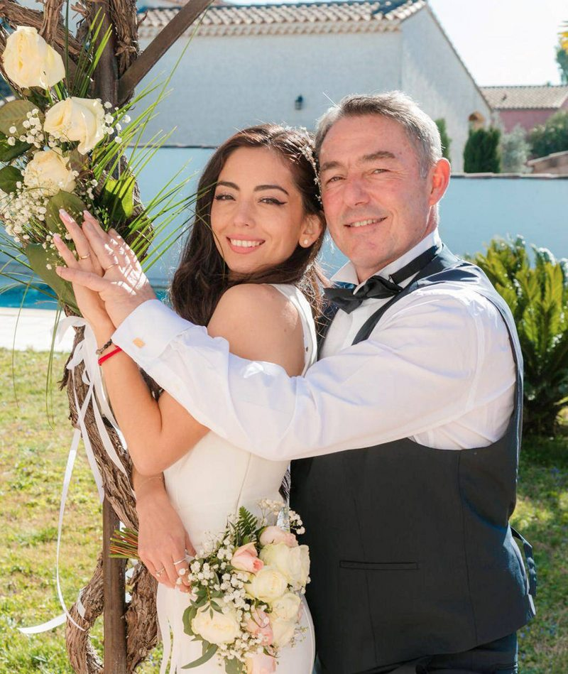 Vanessa Aguilera se casó en el sur de Francia
