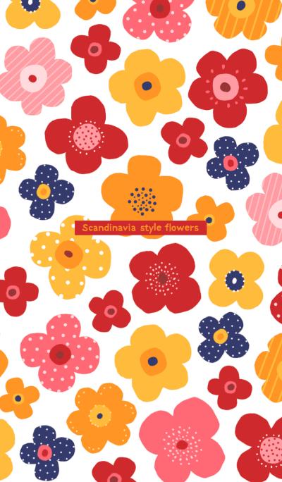 Scandinavia style flowers 3