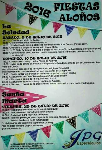 Fiestas de La Soledad 2016 en Aloños.