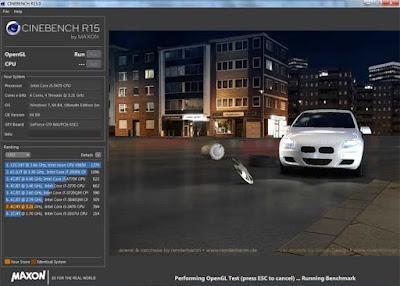 CINEBENCH - тестирования производительности видеокарты.