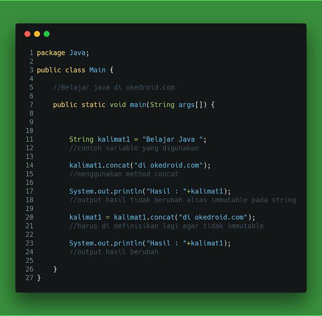 Method concat() di String java