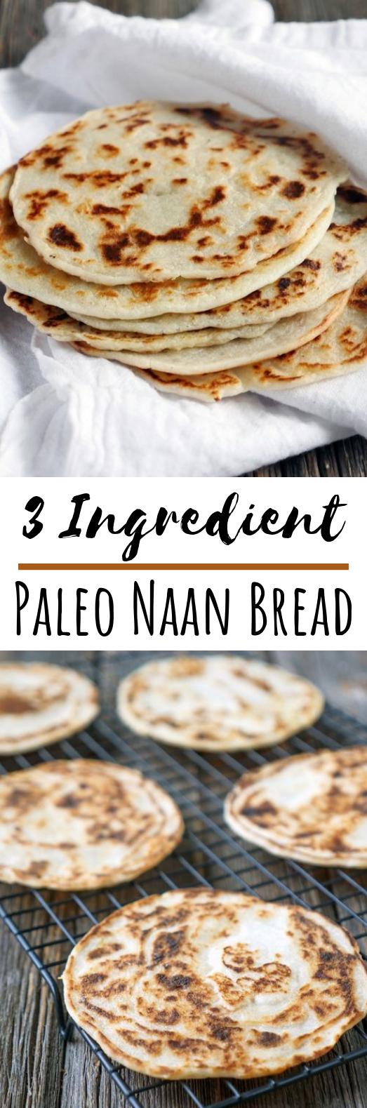 3 Ingredient Paleo Naan Bread #paleo #healthy