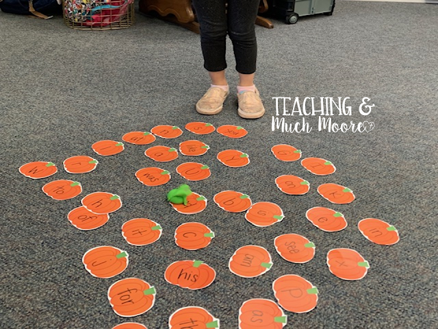 pumpkin sight word game