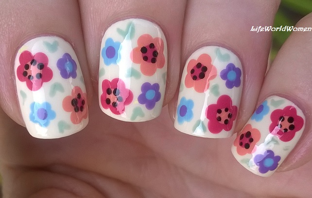 Life world women fall flower nail design using dotting tool fall flower nail design using dotting tool prinsesfo Gallery
