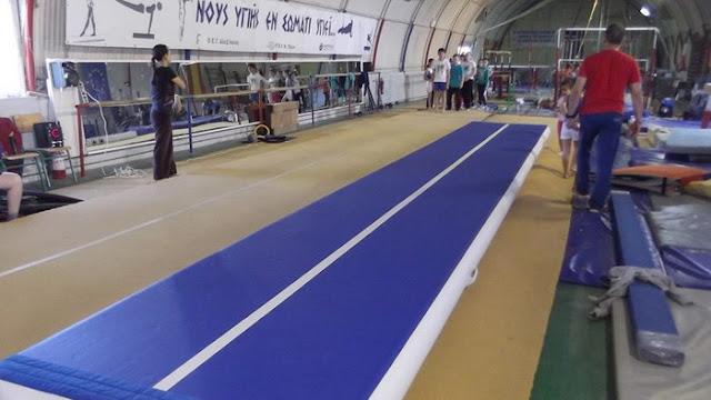Ακροβατικό διάδρομο τύπου AirTrack απέκτησε ο Όμιλος Ενόργανης Γυμναστικής Αλεξανδρούπολης
