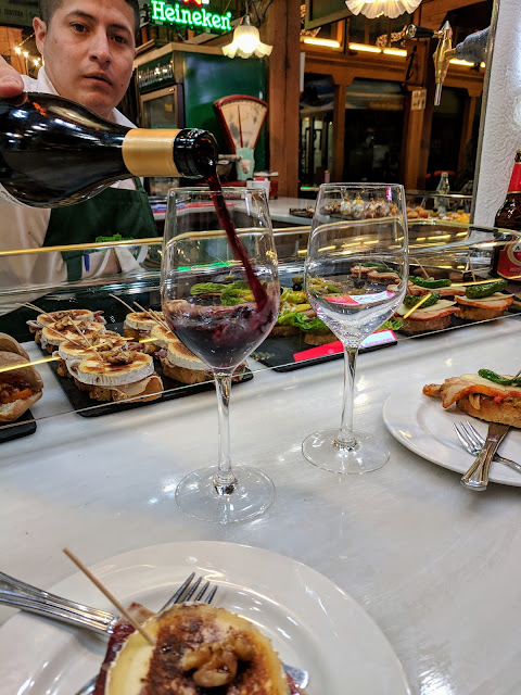 Things to do in Santander in winter: eat tapas at Mercado Municipal del Este