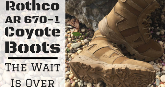 Rothco s Camobloge  See the Highly Anticipated Rothco AR 670-1 Compliant  Coyote Boots fd35962a0b