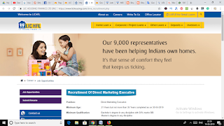 LIC HFL Recruitment 2019 for Marketing Executive Posts Across India by jobcrack.online