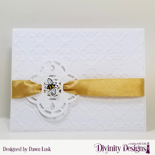 Stamp/Die Duo: Bee-Lieve Custom Dies: A2 Landscape Card Base with Layer, Matting Rectangle Embossing Folder/Die Duo: Quatrefoil