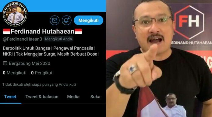 Akun Twitter Ferdinand Hutahaean Ditangguhkan, Para Pendukungnya Ngamuk Nyalahin Demokrat