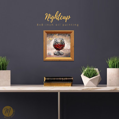 nightcap-brandy-snifter-oil-painting-merrill-weber