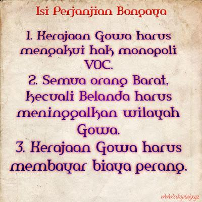 Isi perjanjian Bongaya, Perjanjian Bongaya, Latar Belakang Perjanjian Bongaya, Dampak Perjanjian Bongaya