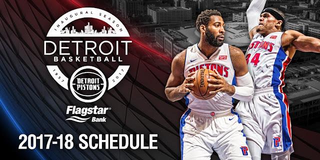 Calendrier NBA saison 2017-2018 | PistonsFR, actualité des Detroit Pistons en France