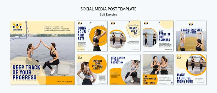 Self Exercise Social Media Template