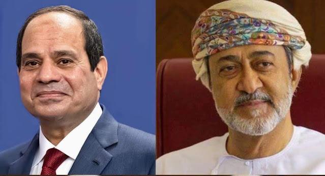 الرئيس  السيسي يتلقي اتصالاً هاتفياً من السلطان هيثم بن طارق آل سعيد سلطان عمان