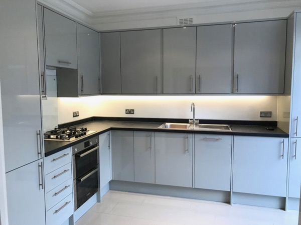 New gloss grey Kitchen