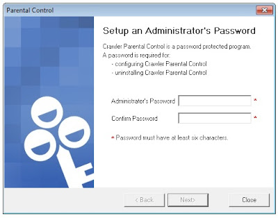 admin password setup