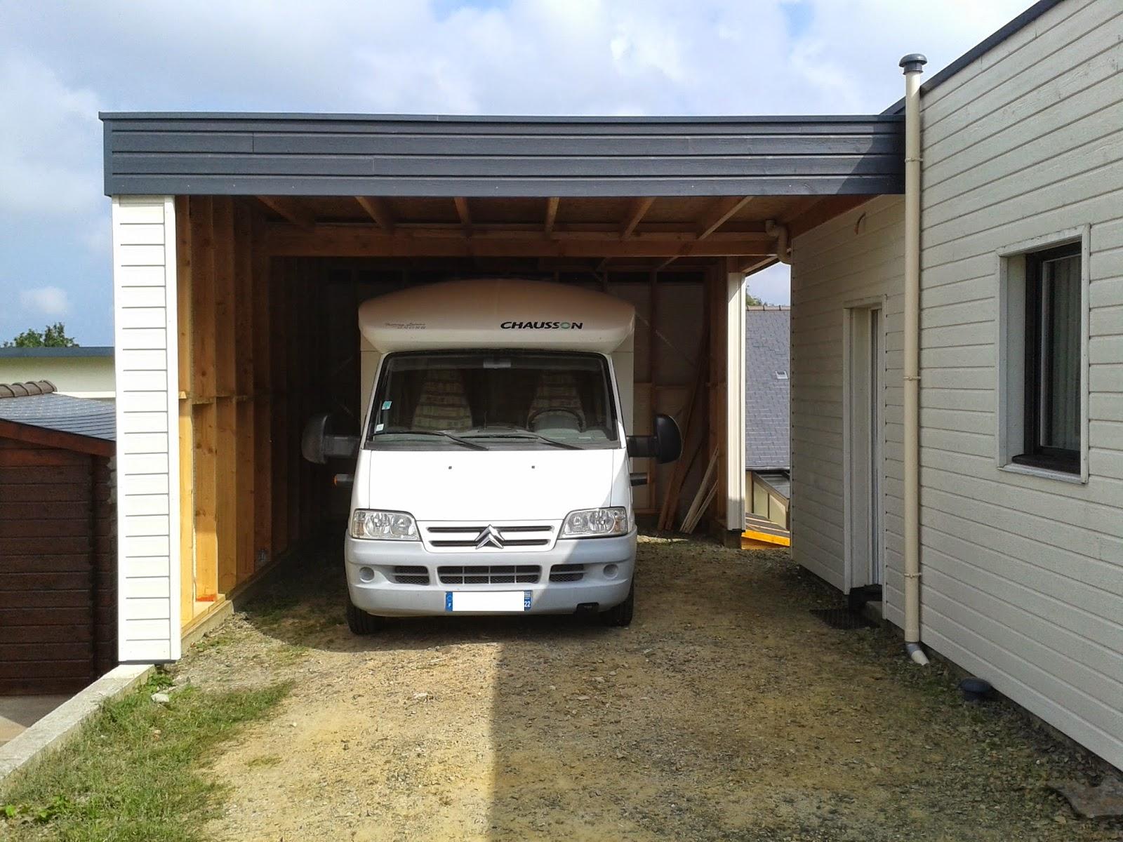 carport en bois camping car. Black Bedroom Furniture Sets. Home Design Ideas