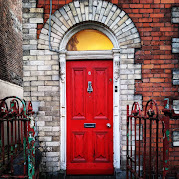 Doors of Ireland: Red door in Limerick City