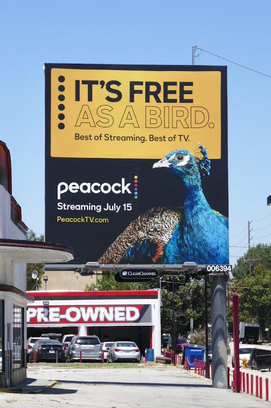 Peacock launch billboard